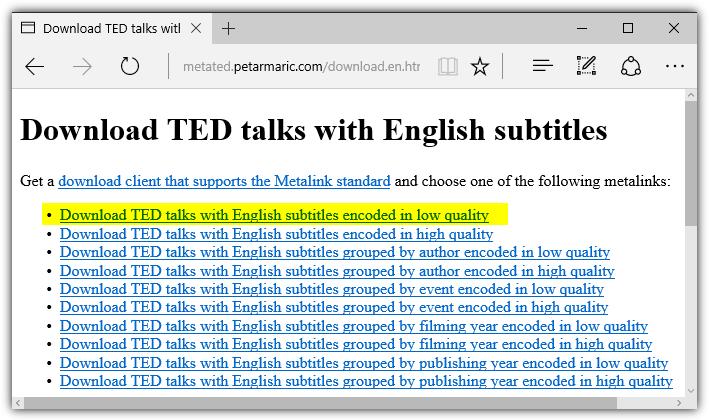 从TED下载视频的几种方法