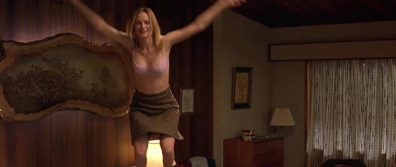 Something Heather graham taking bra off