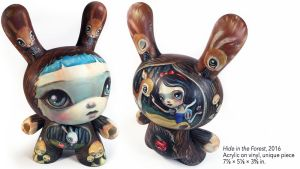 64 Colors' Hide in the Forest custom Dunny, 2016