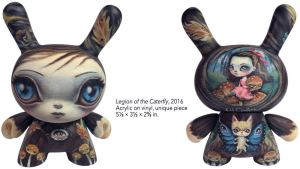 64 Colors' Legion of the Caterfly custom Dunny, 2016