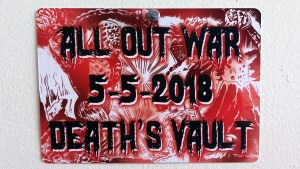 All Out War - ISH vs. MVH - Exhibition placard