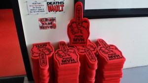 All Out War - ISH vs. MVH - Foam finger giveaways
