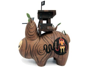 Amanda Visell's Treehouse Wood Labbit Custom, 2009