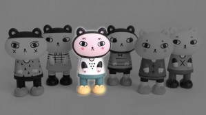 Andrea Kang's Boo Bear - Kang & Kato's Bedtime Bears series, triangles highlighted