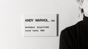 Andy Warhol's Invisible Sculpture installation at the Area Nightclub NYC
