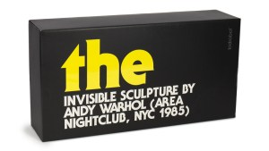 Andy Warhol's Invisible Sculpture from Kidrobot, Packaging