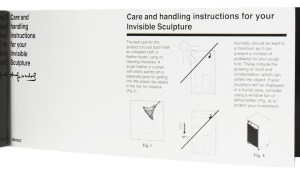 Andy Warhol's Invisible Sculpture from Kidrobot, Care and Handling Instructions