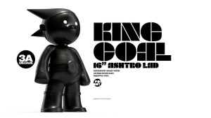 Ashley Wood's Ashtro Lad: King Coal black vinyl figure from 3A