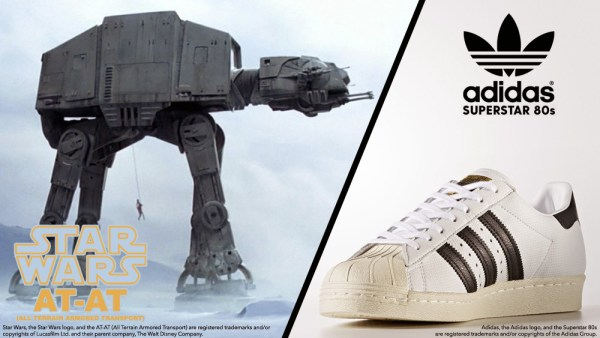 Bill McMullen's AD-AT Inspirations: Star Wars' AT-AT & Adidas Superstar