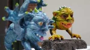 Maureen Trotto's Bog to the Bone at Clutter Gallery's Boglins Custom Toy Show exhibition