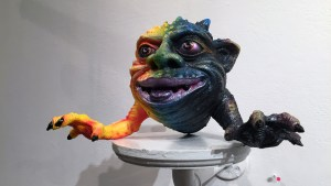Grizlli Atom's Calico Crustacean at Clutter Gallery's Boglins Custom Toy Show exhibition