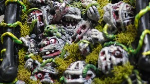 Tim Clarke's Black Plague series at Clutter Gallery's Boglins Custom Toy Show exhibition