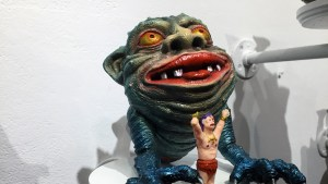 Rampage Toys' Garaboglin at Clutter Gallery's Boglins Custom Toy Show exhibition