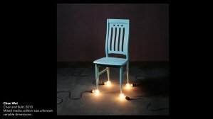 Chen Wei's Chair and Bulbs, 2010, multimedia installation