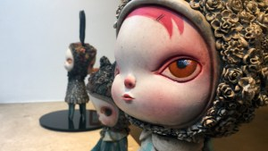 Cirque Noir exhibition - Kathie Olivas' Two-Faced Girl Series: Octopus Girl