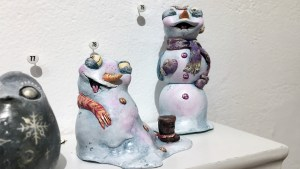 One-Eyed Girl's Puddle & Snowflake from Gift Wrapped 2016 at The Clutter Gallery
