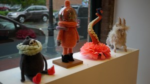 Stitched 2 Exhibition - Window Display (inside)