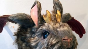 Stitched 2 Exhibition - Lee's Menagerie's Baby Wolpertinger: Sunchaser