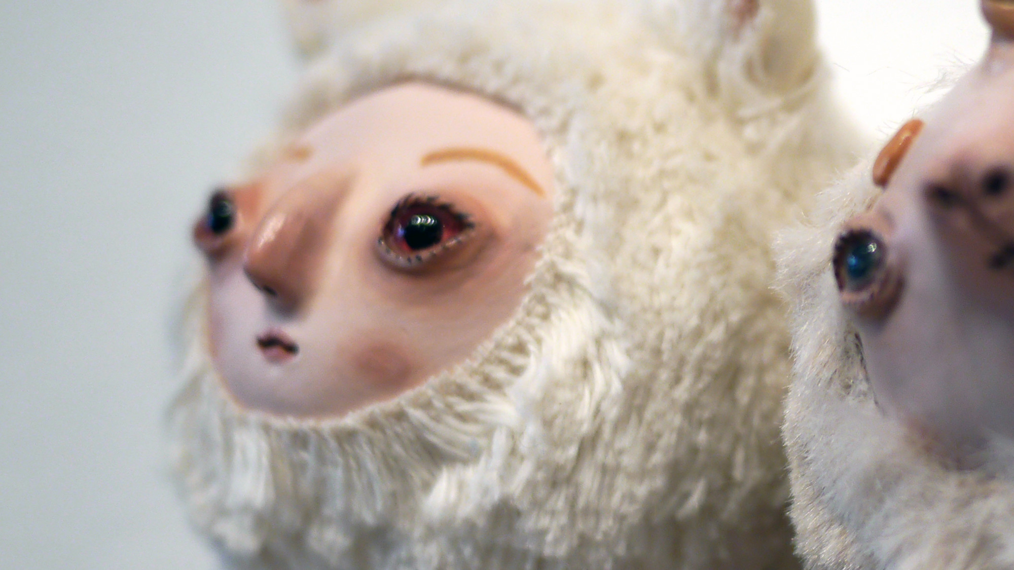 Stitched 2 Exhibition - Claymate Creatures' Anna the Fox & Nadia the Unicorn