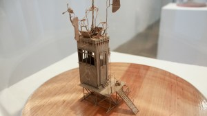 Daniel Agdag's The Elevator cardboard sculpture, 2018