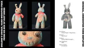 DrilOne's Box of Rust custom blind boxed series, Luke Chueh's Vivisect Playset: Mugs Bunny