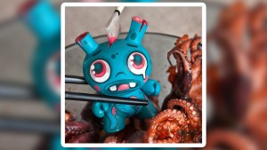 Don't Eat Me Custom Dunny by Fakir