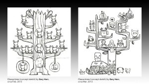 Gary Ham's Pleasantrees concept sketches