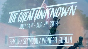 The Great Unknown exhibition - Window display