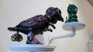 The Great Unknown exhibition - Seymour - Bigbirdman (Purple)
