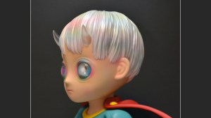 Hikari Shimoda's Children of This Planet sculpture from APPortfolio, quarter turn left (detail)