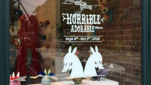 Horrible Adorables' The Horrible Adorable Show - window display