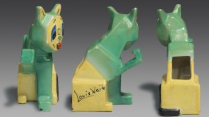 All sides of one of Louis Wain's Futurist Cats