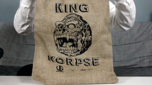 James Groman & InstincToy - King Korpse - Burlap sack container