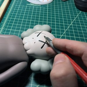 Jason Freeny's Inappropriation (KAWS Companion) - Work in Progress, dissection line