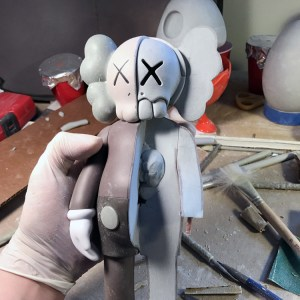 Jason Freeny's Inappropriation (KAWS Companion) - Work in Progress, sculpt beginning