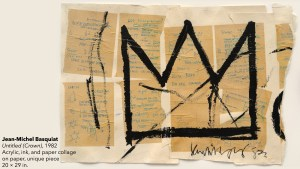 Jean-Michel Basquiat's Untitled (Crown) painting, 1982