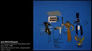 Jean-Michel Basquiat's The Dingoes That Park Their Brains with their Gum painting, 1988