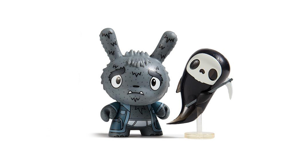 The Bots' Scared Silly Dunny Series from Kidrobot, Grim Reaper Grampy, 2017
