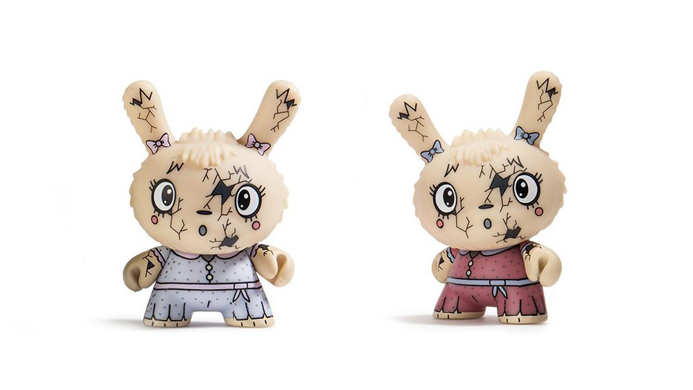 The Bots' Scared Silly Dunny Series from Kidrobot, You Crack Me Up (regular & variant), 2017