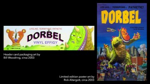 Jim Woodring's Dorbel Header Card Art and Limited Edition Poster from STRANGEco