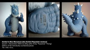 Jim Woodring's Dorbel in Blue Monotone (Popsalute Edition) from STRANGEco