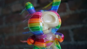 Josh Mayhem Solo Show - Blown Away - Disintegrated Dunny (Custom Kidrobot & Jason Freeny Half-Ray Dunny)