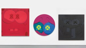 KAWS' untitled (2009), NYT (2012), and Night Time Office (2010)