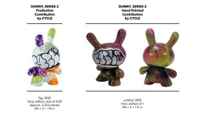 Kidrobot's Dunny Series 2 - Cycle's Production & Hand-Painted Pieces