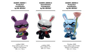 Kidrobot's Dunny Series 1 & 2 - Dr. Revolt's Production & Hand-Painted Pieces