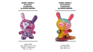 Kidrobot's Dunny Series 2 - Queen Andrea's Production & Hand-Painted Pieces