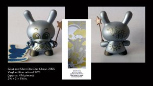 Sket One's Dae Dae Dunny chase design from Kidrobot's Dunny Series 2, 2005