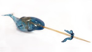 Kozyndan's The Universal Messenger Narwhal Sculpture, 2012