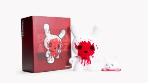 """Luke Chueh's Blood & Fuzz 8"""" Dunny with Decapitated Head, 2010"""