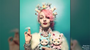Mab Graves with her Dreamer Dunny pieces, 2017